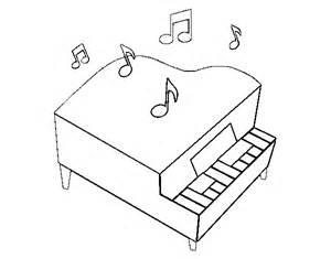 dibujo de piano de cola para colorear dibujos net