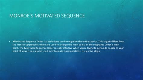 monroe motivated sequence pattern of organization chapter 8 public speaking