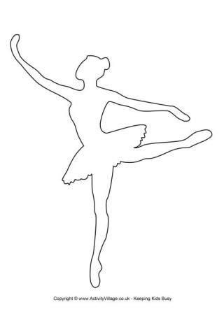 printable ballerina templates ballerina template 2 pinteres