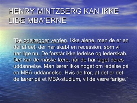 Eller Mba Review by Center For Ledelse Den 5 December 2012