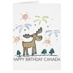 happy birthday canada greeting card zazzle