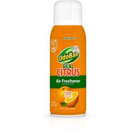 strongest room deodorizer odoban real citrus 10 oz air freshener spray 9793d70 10a the home depot