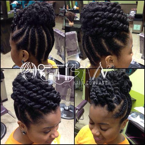 jumbo braid updo jumbo rope twists artisan hair company llc