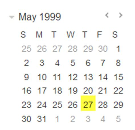 May 1999 Calendar A Scpr Welcome Back To Reinstated Stark County Treasurer