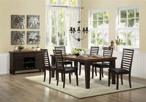 two tone dining room sets homelegance 5109 82 walsh two tone dining room set