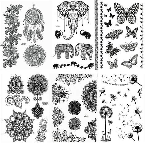 henna tattoo stickers aboat pack of 9 sheets henna temporary