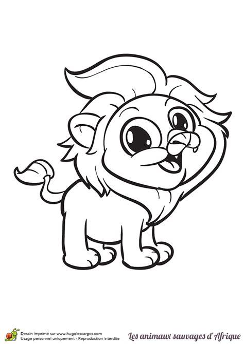 Coloriage Animaux Sauvages D Afrique Le Lion Animaux Sauvages De La Jungle Animaux Coloriages A Coloriage Tigre L
