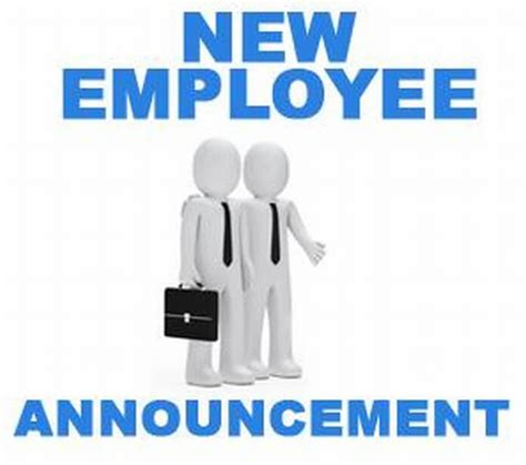 New Employee Announcement by New Employee Images