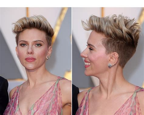chelsuk i got my hair cut both sides are shaved now photos scarlett johansson s hair at oscars copy her