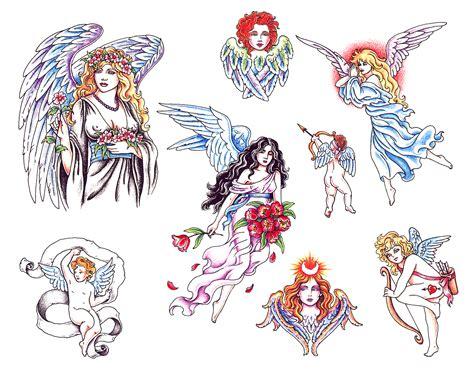 free angel tattoo designs tattoos