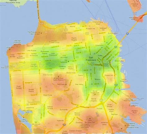 san francisco heat map new chart junk squaring the pie michel baudin s