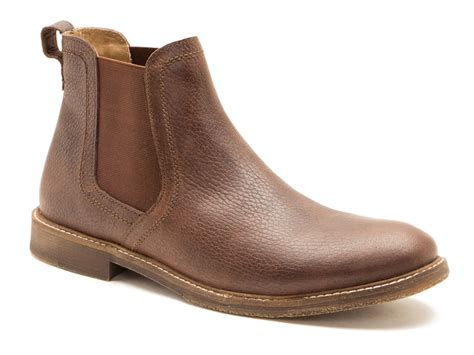 mens brown chelsea boot ashton brown leather mens chelsea boots free uk p