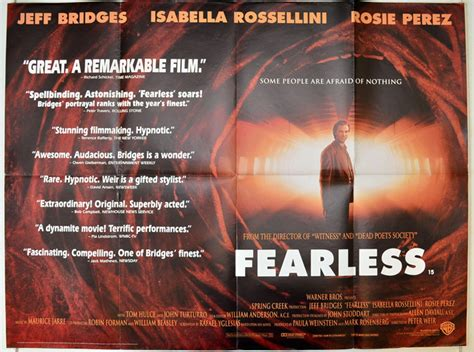 Fearless 1993 Full Movie Fearless Original Cinema Movie Poster From Pastposters Com British Quad Posters And Us 1 Sheet