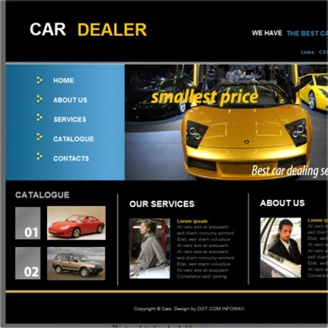 free car templates car dealer template free website templates in css html