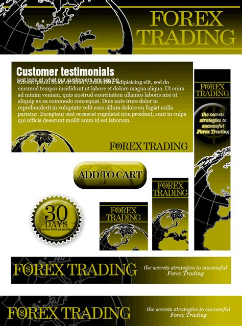 forex plr website template landing page