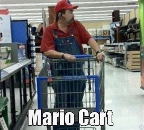 Shopping Cart Meme - funny mario kart 05