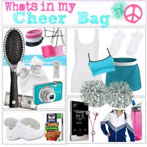 whats in my cheer bag polyvore