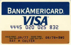 Bank Of America Visa Gift Card Online - bank card visa first edition bankamericard fifth third bank united states of