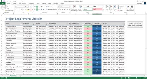 Project Requirements Template Excel by Project Plan Template Ms Word Excel Forms