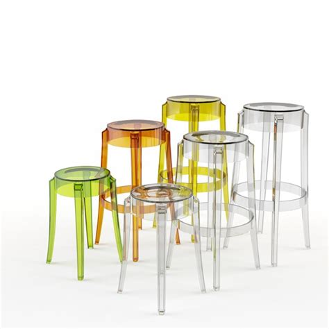 Tabourets Kartell by Tabouret Bas Kartell Charles Ghost Cristal Ideesboutique