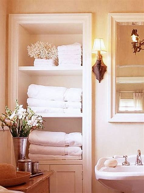 bathroom wall niche towels storage 24 ideas to spruce up your bathroom