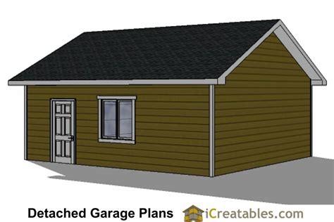 22x24 2 car 1 door detached garage plans 22x22 2 car 1 door detached garage plans