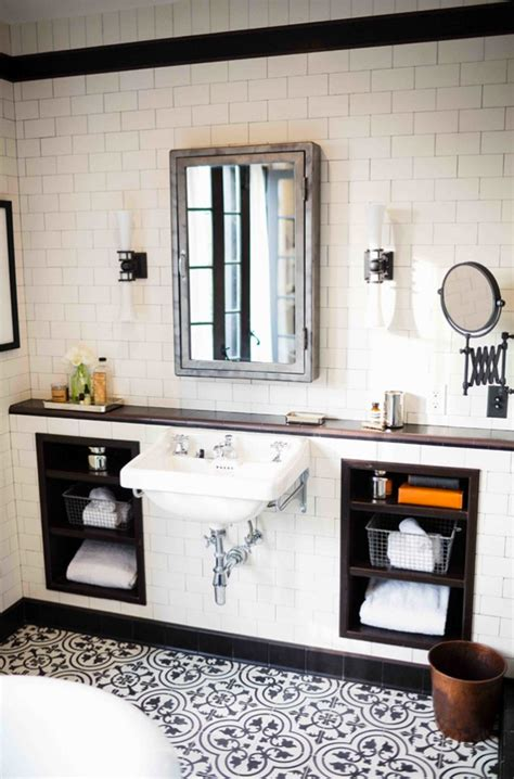 white and black bathroom amazing black and white bathroom design with a retro vibe