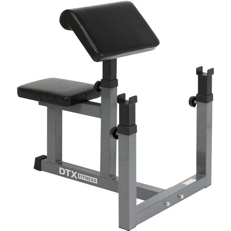 bicep bench dtx fitness preacher arm curl barbell weight bench bicep