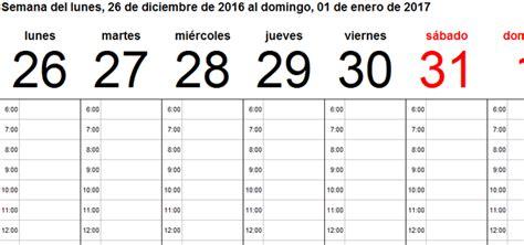 Calendario Quincenal 2017 Plantillas Calendario En Excel 2017 Ayuda Excel