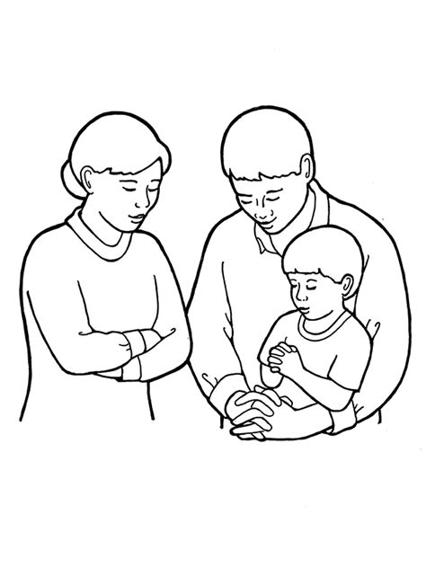coloring pages family praying together family praying drawing