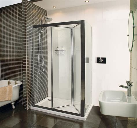 Collage Bi Fold Door Shower Enclosure Roman Showers Space Saving Shower Doors