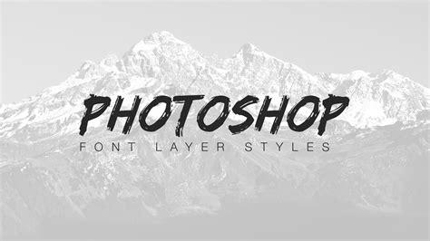 Font Photoshop | font layer styles in photoshop part 1 retutpro