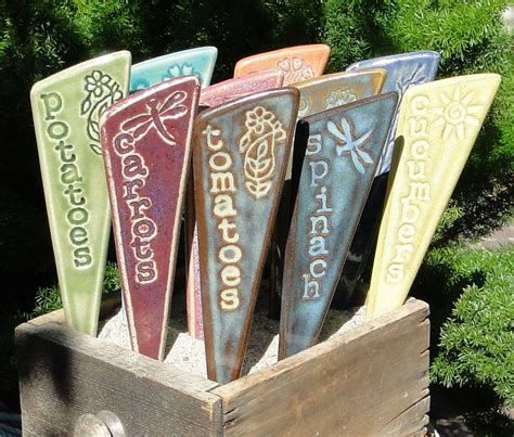 Veggie Garden Stakes Plant Markers A Set Of By Vegetable Garden Markers