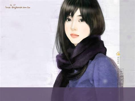 Novel Paint My Korean Story 手绘美女壁纸 爱情小说美女手绘壁纸 甜美手绘美女插画壁纸 第十七辑 壁纸图片 绘画壁纸 绘画图片素材 桌面壁纸