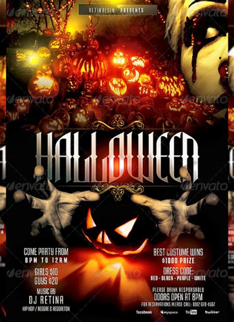 template flyer halloween 20 beautiful halloween party flyer templates