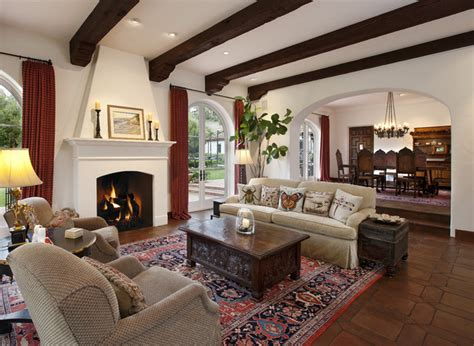livingroom in spanish spanish colonial traditional living room santa
