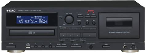 cassette cd player teac introduceert ad 850 cassettedeck en cd speler