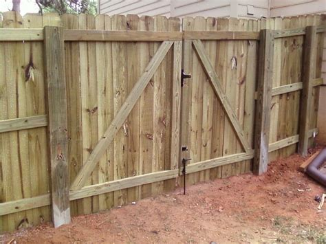how to build a double swing wooden gate wooden privacy fence gates fences