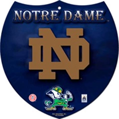 of notre dame colors blue notre dame fighting nd logo navy blue interstate sign 8 quot