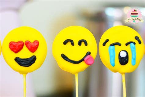 imagenes de emoji pop emoji cake pops f 193 cil solo 3 ingredientes mis