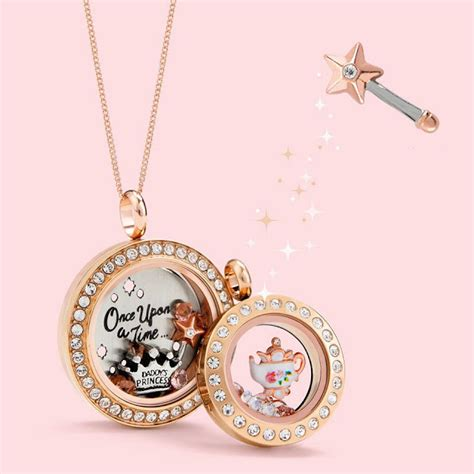 Gold Origami Owl Locket - once upon a time gold origami owl living lockets