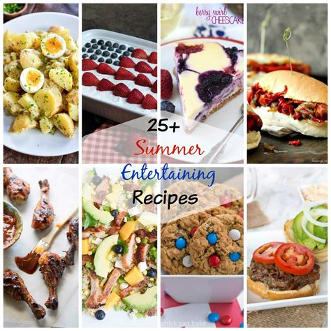 summer entertaining menu summer entertaining recipes dinners dishes and desserts