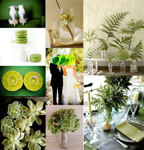 It?s Theme Time Again!! ? Colors ? Green Wedding