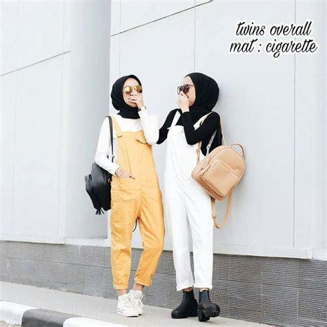 Overall Dress Muslim Wanita Erlina Overall grosir baju muslim overall grosir baju muslim
