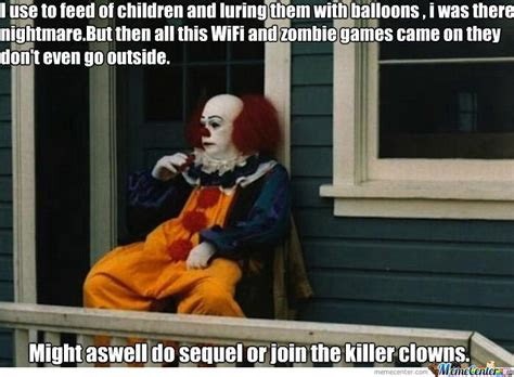 Funny Clown Memes - funny retired pennywise the clown funny pictures and