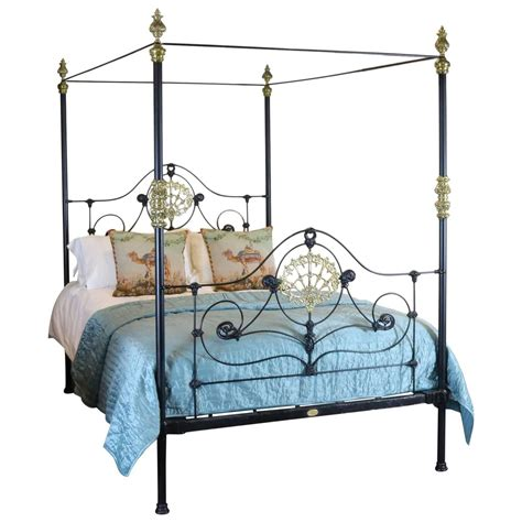 Iron Four Poster Bed | cast iron four poster bed m4p13 at 1stdibs