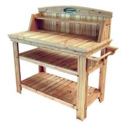Potters Benches Suncast Cedar Potting Table Discontinued Pt4500 The Home