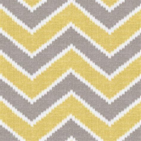 chevron drapery fabric hazy gray yellow chevron rise fall buttercup loom
