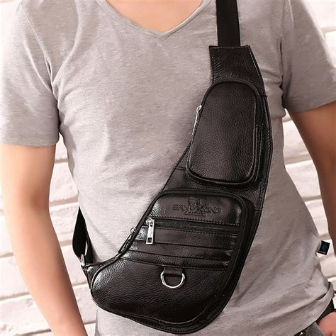Best Quality Slingbag 2 In1 top quality genuine leather real cowhide messenger shoulder crossbody bag tactical travel