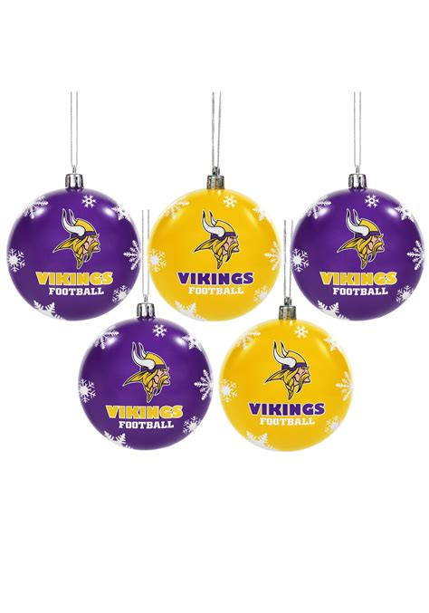 nfl minnesota vikings ornament set